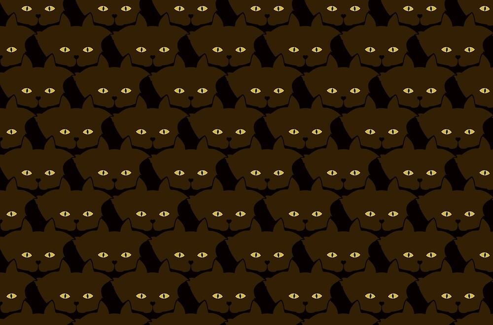 Mocha Brown Cat Cattern [Cat Pattern] by Brent Pruitt