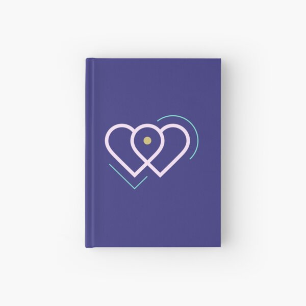 Violet Hearts Hardcover Journal