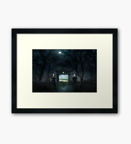 PORTAL OF DAY Framed Print