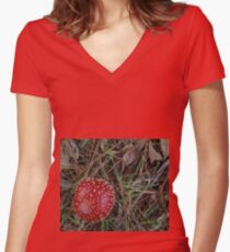 Fairy Toadstool  Women's Fitted V-Neck T-Shirt