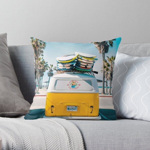 Van Life - Yellow Throw Pillow