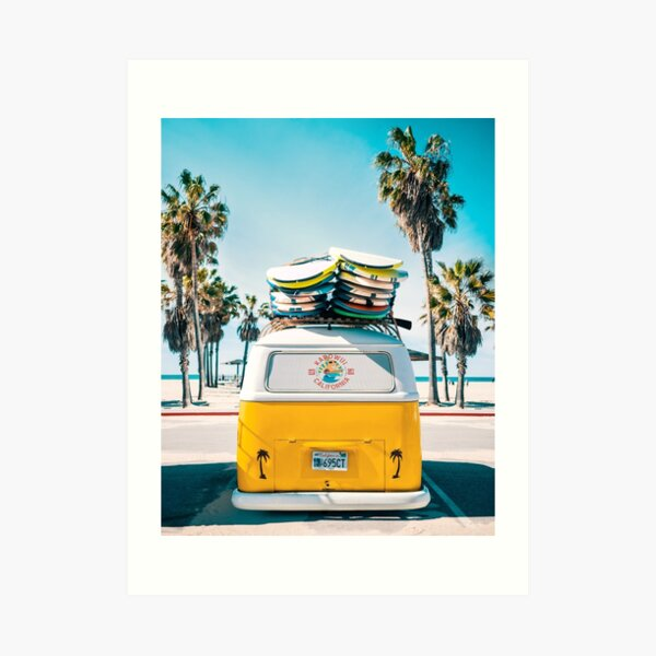 Van Life - Yellow Art Print