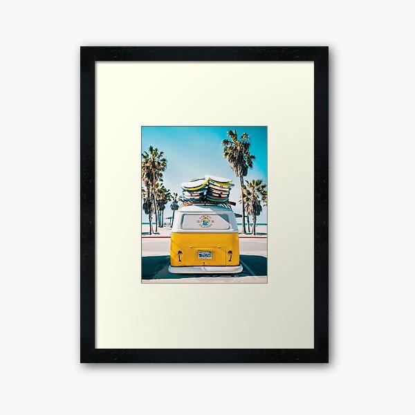 Van Life - Yellow Framed Art Print