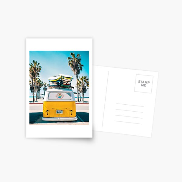 Van Life - Yellow Postcard