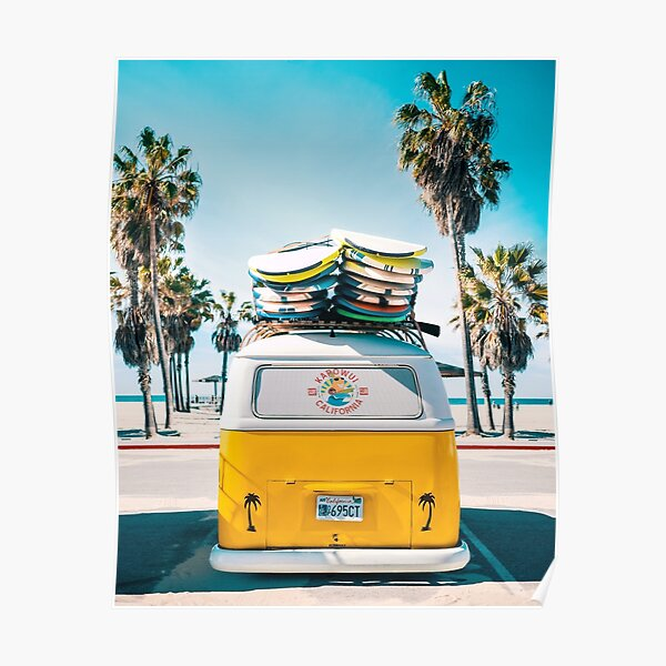 Van Life - Yellow Poster
