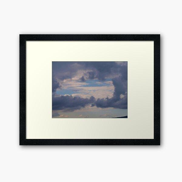 Window to the sky , clouds via  Mt. Barney  Framed Art Print
