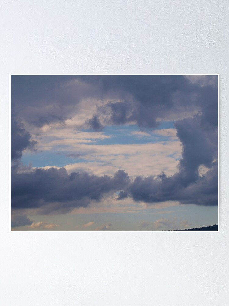 Alternate view of Window to the sky , clouds via  Mt. Barney  Poster