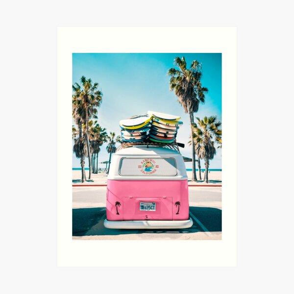 Van Life - Pink Art Print