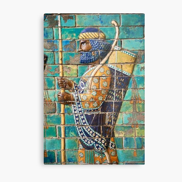 Achaemenid Immortals' Soldier Metal Print