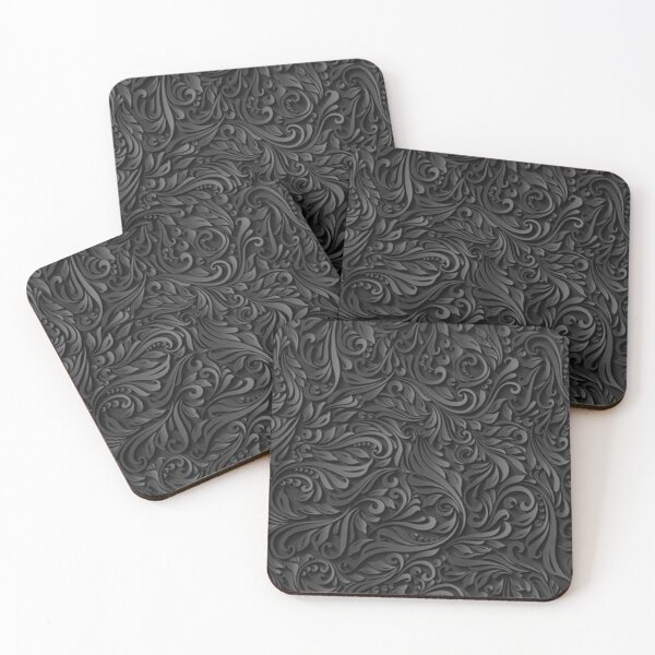 Dark Floral Coasters (Set of 4)