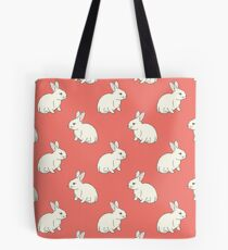 White Rabit Tote Bag