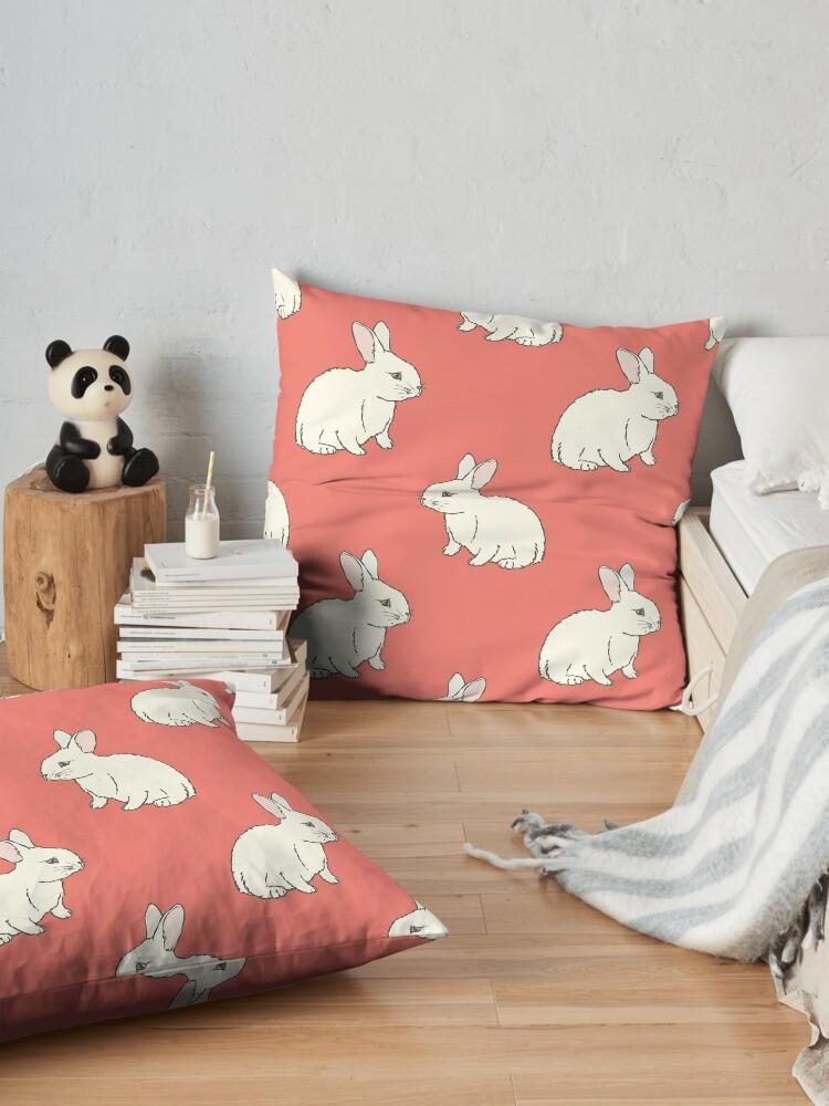 Alternate view of White Rabit Floor Pillow