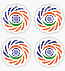 Indian American Multinational Patriot Flag Series Sticker