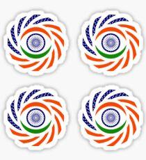 Indian American Multinational Patriot Flag Series Sticker