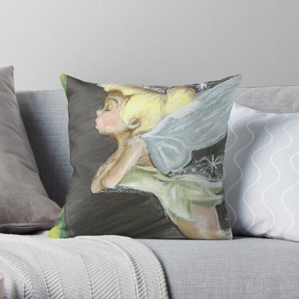 Super Heroic - Tinker Bell Throw Pillow