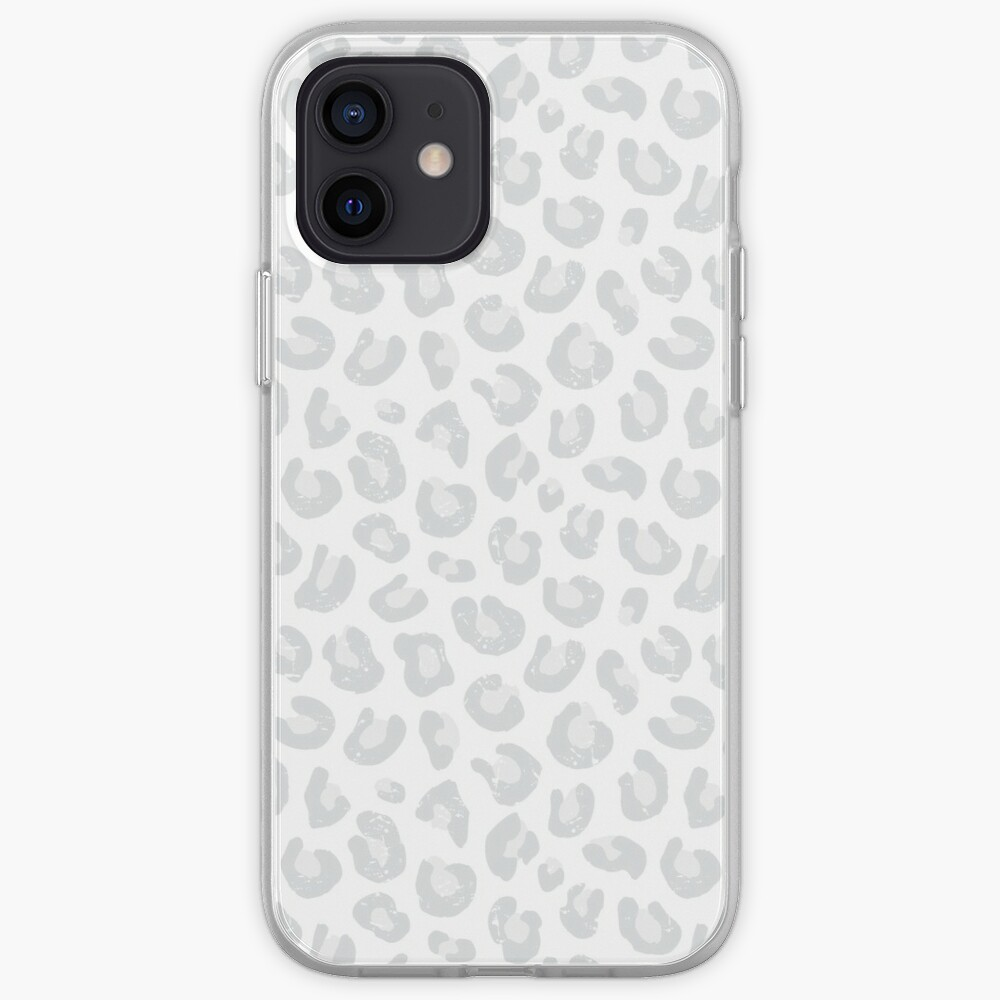 Leopard Print - Silver Gray and White  iPhone Case & Cover