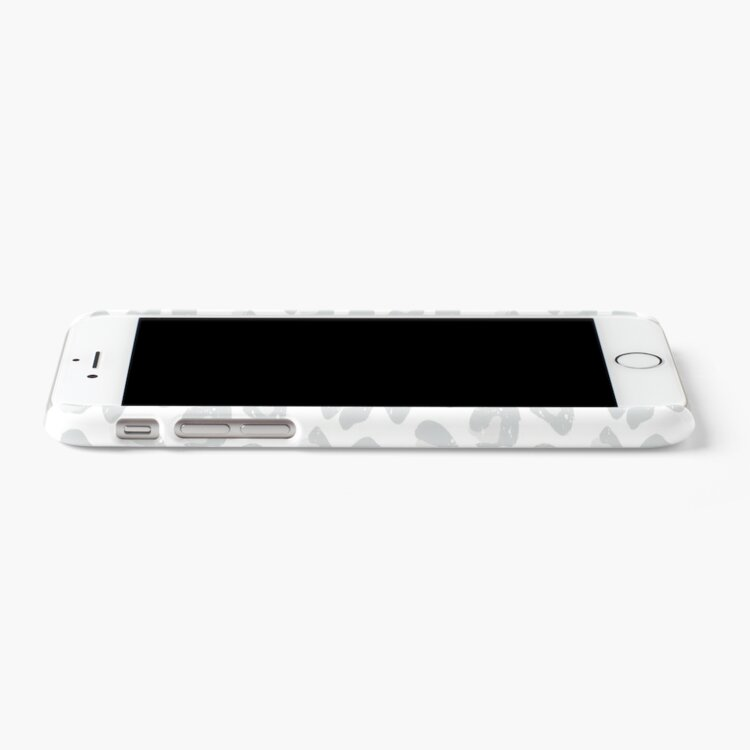 Alternate view of Leopard Print - Silver Gray and White  iPhone Case & Cover