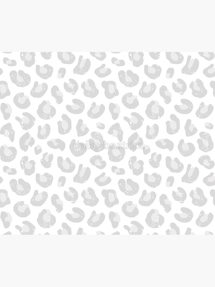 Leopard Print - Silver Gray and White  by daisy-beatrice