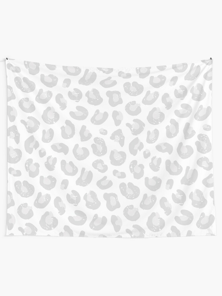 Alternate view of Leopard Print - Silver Gray and White  Tapestry