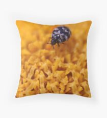 Walking Down the Yellow Road Throw Pillow