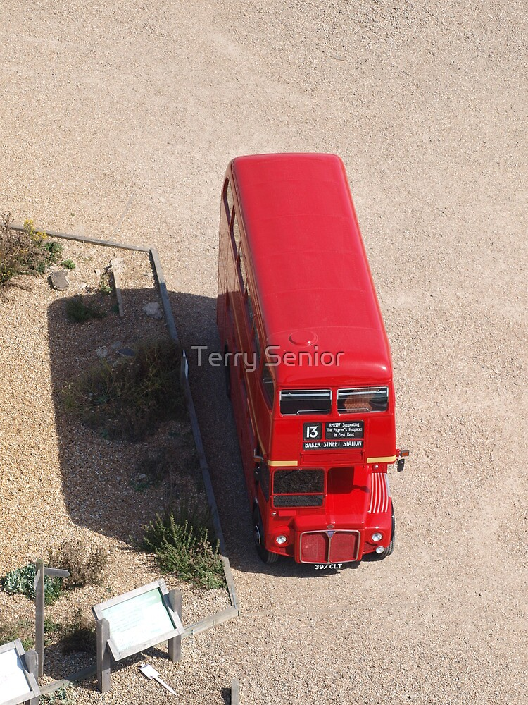 Red Double Decker Bus from above by Terry Senior