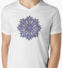 Spinnennetz Mandala T-Shirt mit V-Ausschnitt für Männer