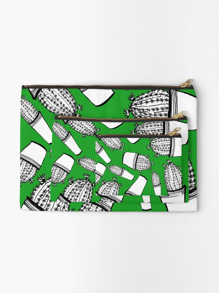 Alternative Ansicht von Cactus 63 black & white Täschchen