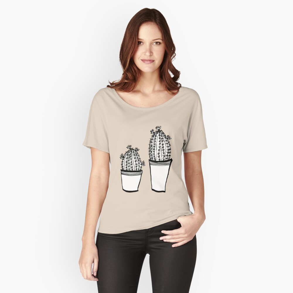 Cactus 63 black & white Loose Fit T-Shirt
