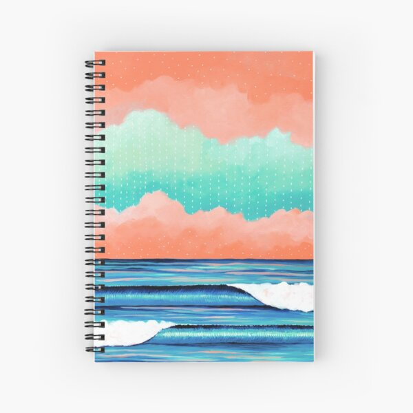 Graphic Seascape I Spiral Notebook