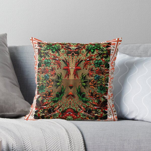 Mary Jane Red Throw Pillow
