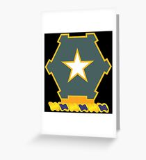 1st Battalion 36th Infantry Regiment (US Army) Greeting Card