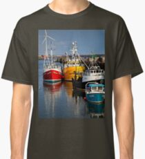 Fishing boats in harbour Classic T-Shirt