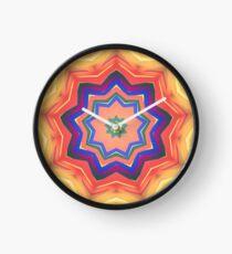 Here Comes the Sun Mandala Art - Yoga Lover Gift Clock