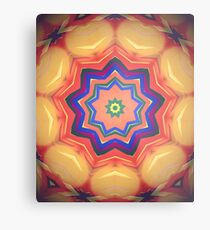 Here Comes the Sun Mandala Art - Yoga Lover Gift Metal Print