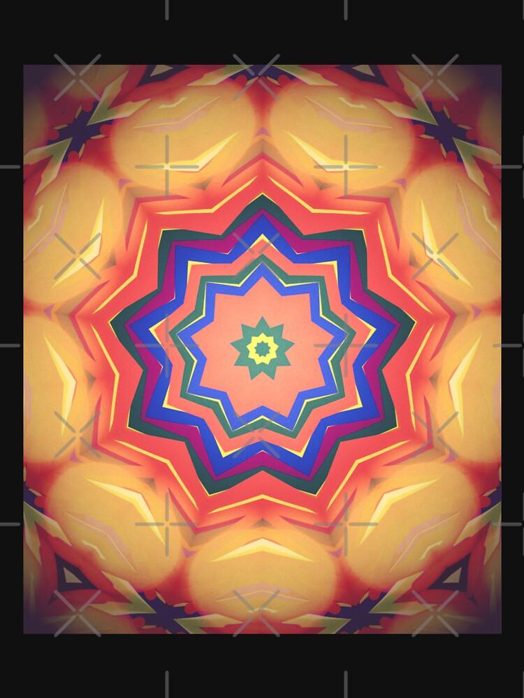 Here Comes the Sun Mandala Art - Yoga Lover Gift by OneDayArt