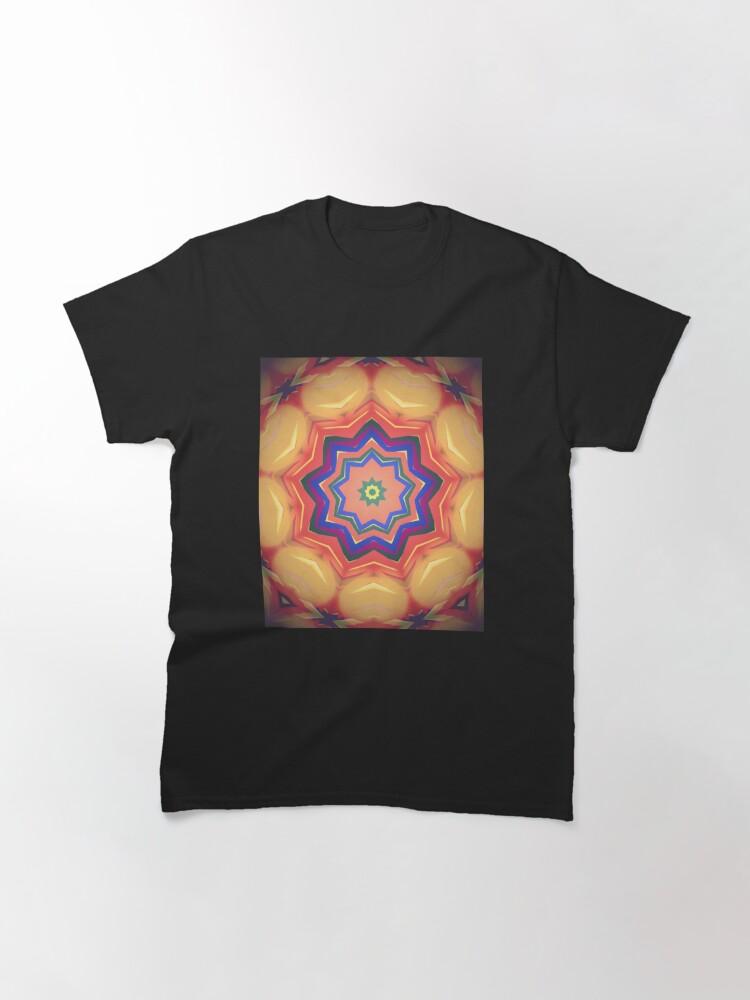 Alternate view of Here Comes the Sun Mandala Art - Yoga Lover Gift Classic T-Shirt