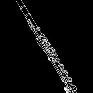 Flöte Skizze von Rocket-To-Pluto