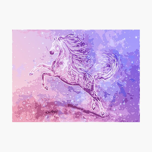 Sparkle Horse Pinks and Lavender Photographic Print