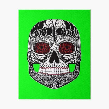 Monika's Sugar Skull Art Board Print