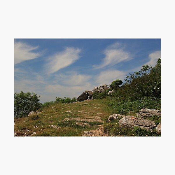 Cloudscape above Warton Crag Photographic Print