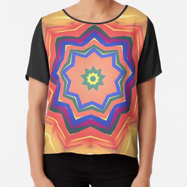 Here Comes the Sun Mandala Art - Yoga Lover Gift Chiffon Top