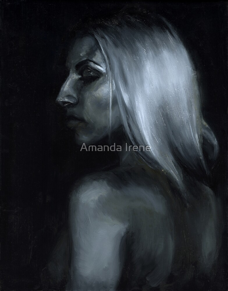 Sarah, Ölgemälde auf Leinwand von Amanda Irene