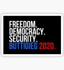 Freiheit, Demokratie, Sicherheit, Buttigieg 2020 Autoaufkleber Slogan Sticker
