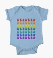 Rainbow march of Daleks One Piece - Short Sleeve