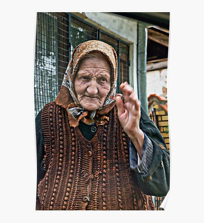 Sicevo old woman Poster