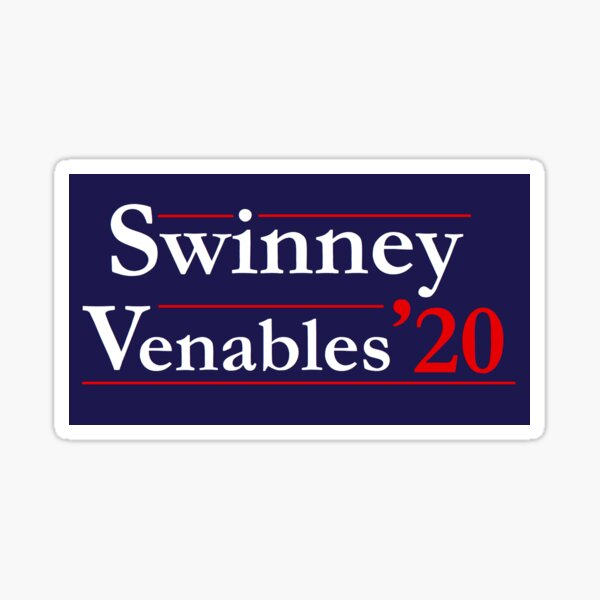 Swinney Venables '20 Clemson Campaign Sign Sticker