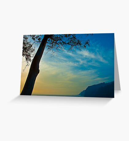 The cliffs at Los Gigantes, Tenerife Greeting Card
