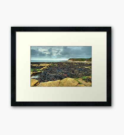 South Landing, Flamborough – looking towards Bridlington Framed Print
