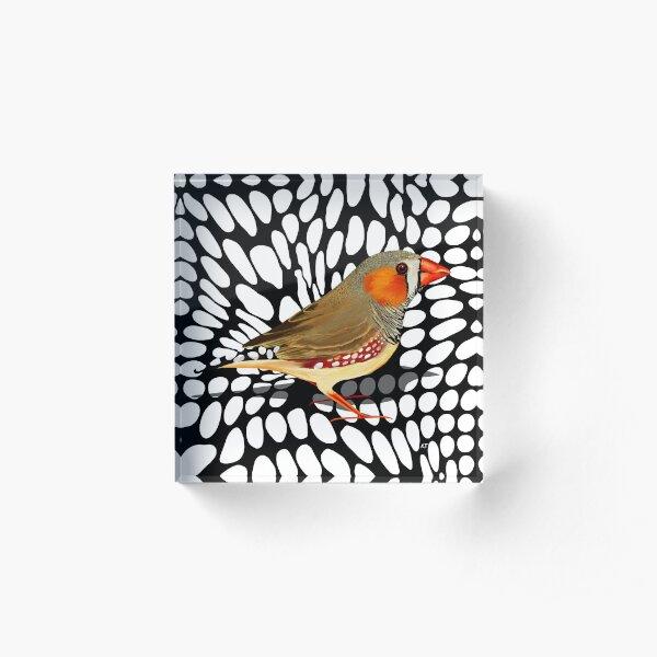 Zebra Finch Acrylic Block