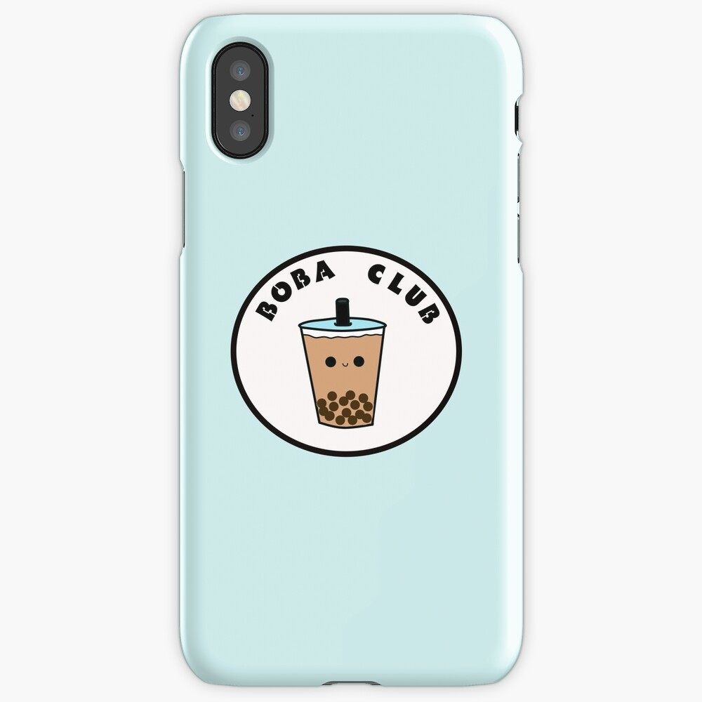 """""""Boba Club"""" iPhone Case & Cover by nicki17   Redbubble"""